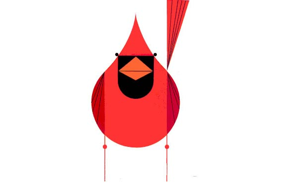 Cardinal, by Charley Harper (1922 - 2007)